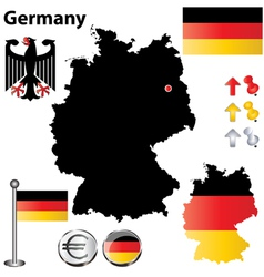 Germany flag small vector