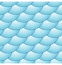 Blue retro fish scales seamless pattern vector