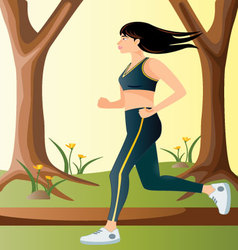 Workout-in-the-park vector