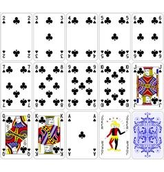Poker cards club set four color classic design vector