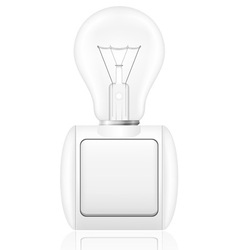 Concept of light bulb with a switch vector