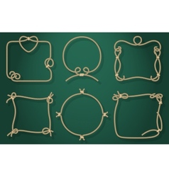 Set of old rope frames in different unique styles vector