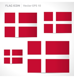 Denmark flag template vector