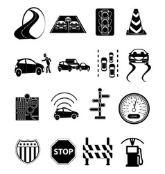 Road traffic icons set vector