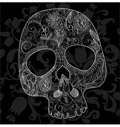 Skull woven lace vector