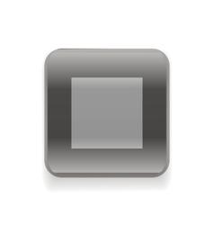 Black stop button vector