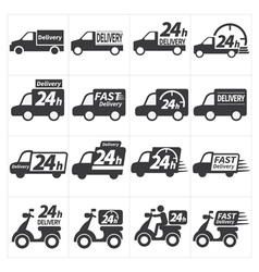 Delivery car icon vector