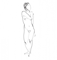 Nude model sketch vector