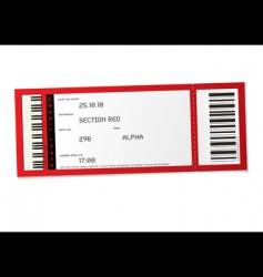 Concert event ticket vector