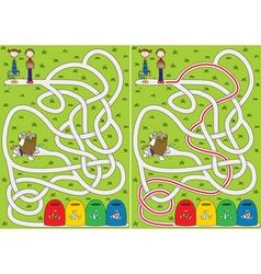 Recycling maze vector