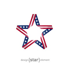 4th july independence day star from ribbon with vector