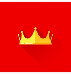 Vintage of a crown in flat style with long shadow vector