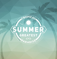 Retro summer vintage label on colorful background vector