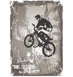 Street biker bmx vector