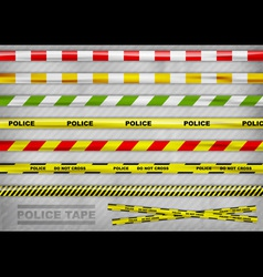 Police tape vector