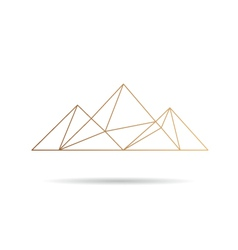 Egypt pyramids icon vector
