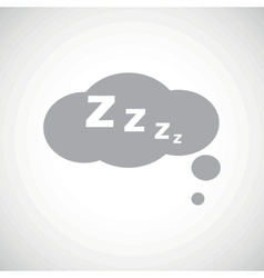 Grey sleeping icon vector