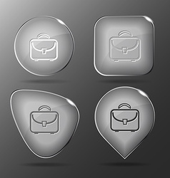 Briefcase glass buttons vector