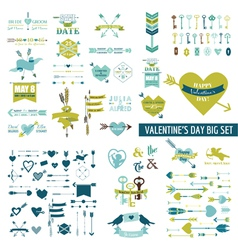 Huge valentines day set - over 100 elements vector