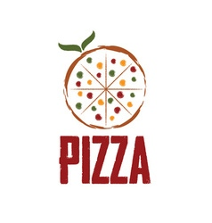 Pizza with leaves design template vector