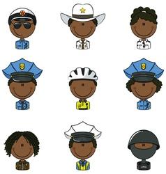 Police avatars vector