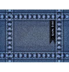 Blue denim frame vector