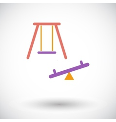 Swing icon vector