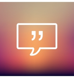 Speech bubble with punctuation symbol thin line vector