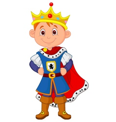Kid cartoon with king costume vector