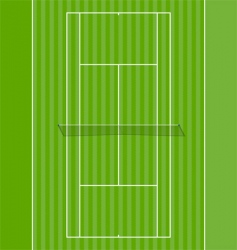 Grass court vector