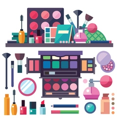 Beauty store with cosmetics vector
