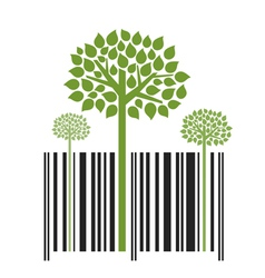 Nature trees bar code vector