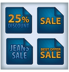 Jeans sticker sale vector