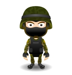 Soldier character in mask vector