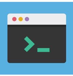 Command line icon vector
