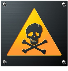 Metal grunge skull sign vector