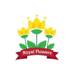 Bright spa salon or flower shop logo vector