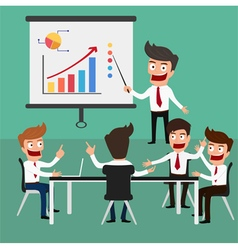 Business meeting in office vector