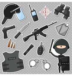 Special police officer vector