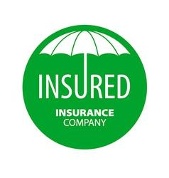 Logo umbrella for insurance company vector