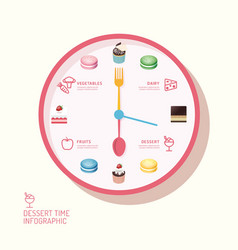 Infographic watch and bakery flat icons idea vector