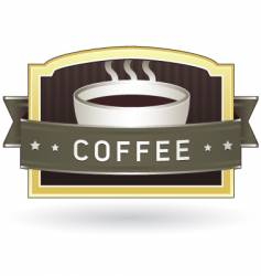 Coffee package label vector