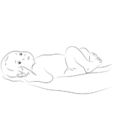 Sketchy newborn vector