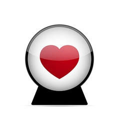 Love heart dome vector