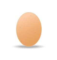 Brown egg vector