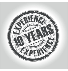 10 years experience vector
