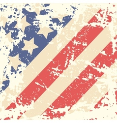 Retro background with american flag vector