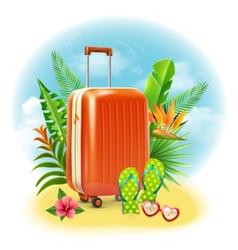 Travel suitcase design vector