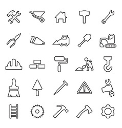 25 outline universal construction icons vector