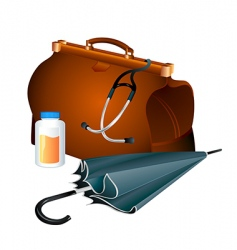 Family doctor survival kit vector